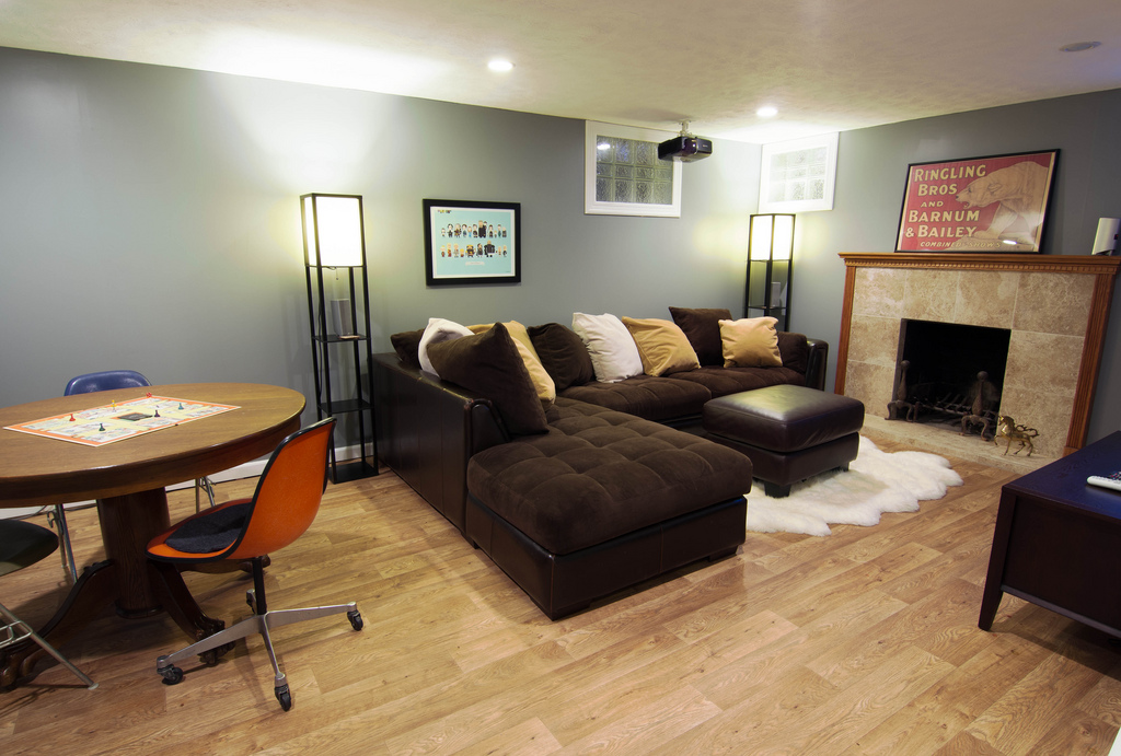 A pro 39 s guide to the best flooring options for basements for Best flooring for basement family room