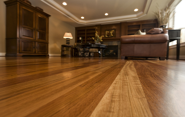 close-up photo of laminate flooring
