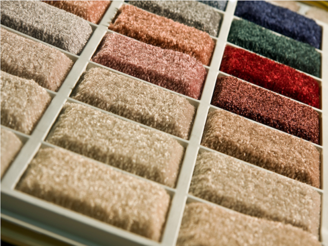 Carpet showroom samples