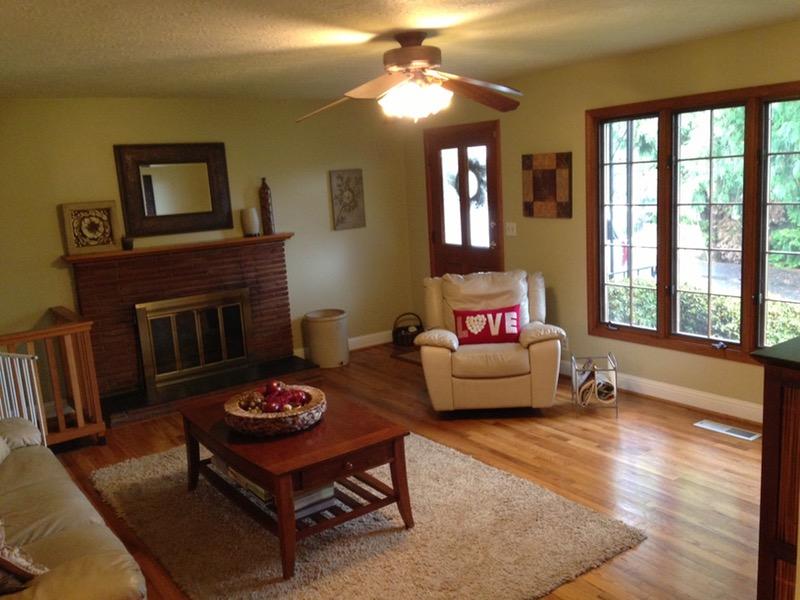 hardwood living room
