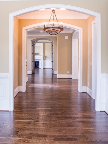 hardwood hallway floor