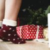holiday feet on floor