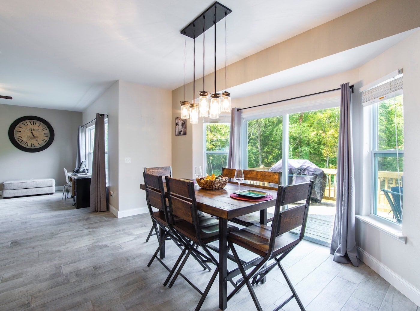 gray hardwood flooring